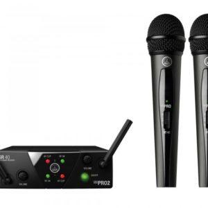 AKG - WMS40 Mini 2 DUAL Handheld Wireless Microphone System
