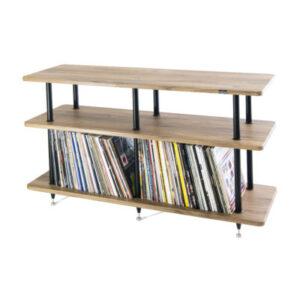Solidsteel VL-3 | Vinyl Record Storage & Hi-Fi Rack (Walnut) 1