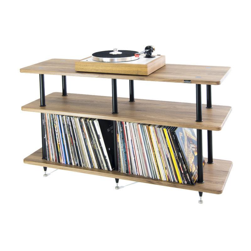 Solidsteel VL-3 | Vinyl Record Storage & Hi-Fi Rack (Walnut)